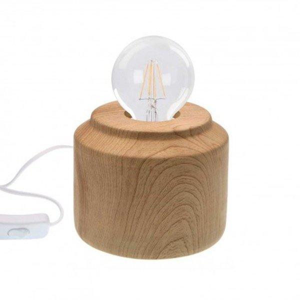 Versa Tischleuchte Holz-Optik von Versa