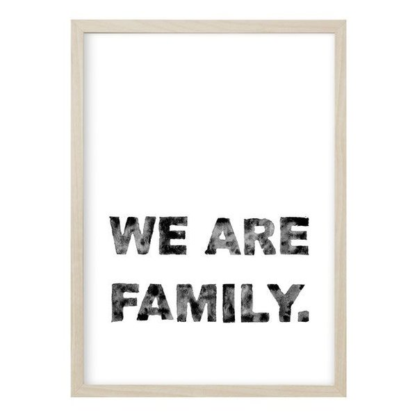 "Kruth Design Poster ""We are Family"" von Kruth Design"
