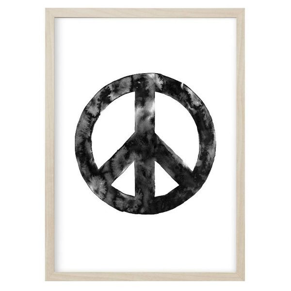 """Kruth Design Poster """"PEACE""""Schwarz von Kruth Design"""