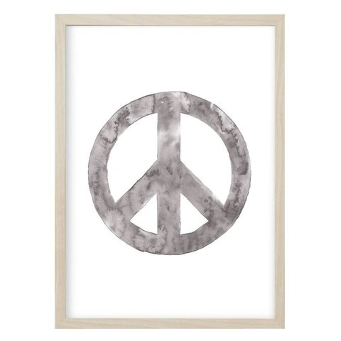 "Poster ""PEACE"" Grau von Kruth Design"