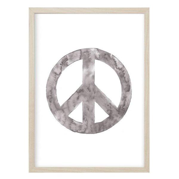 """Kruth Design Poster """"PEACE""""Grau von Kruth Design"""