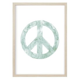 "Kruth Design Poster ""PEACE"" Mint von Kruth Design"