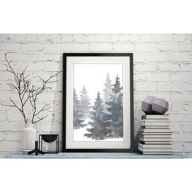 "Kruth Design Poster ""GREY TREES"" von Kruth Design"