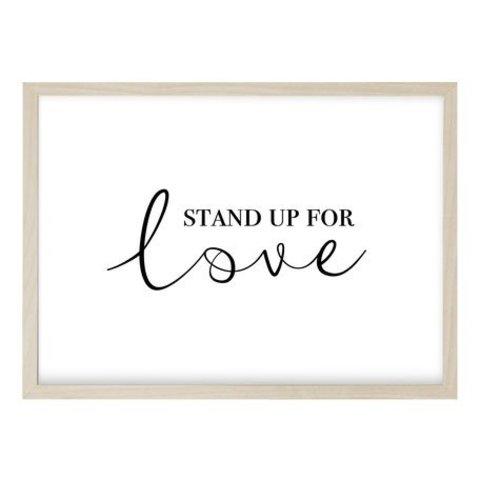 """Poster """"STAND UP QUER"""" von Kruth Design"""