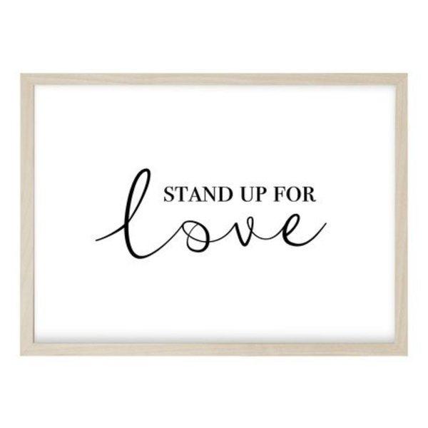"""Kruth Design Poster """"STAND UP QUER"""" von Kruth Design"""