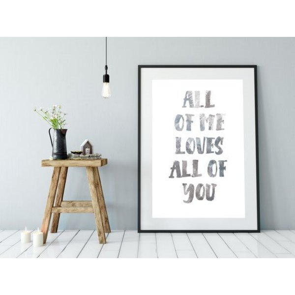 "Kruth Design Poster ""ALL OF ME"" von Kruth Design"