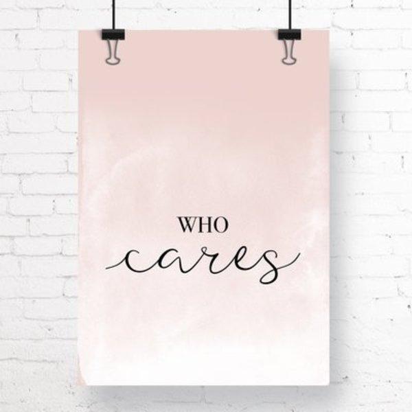 """Kruth Design Poster """"WHO CARES"""" von Kruth Design"""