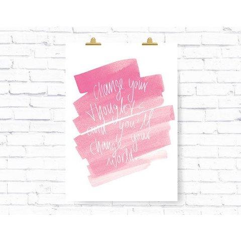 """Poster """"THOUGHTS"""" von Kruth Design"""