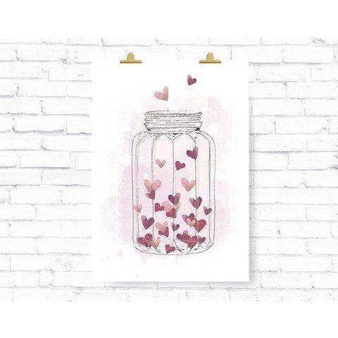 """Poster """"HEARTGLASS"""" von Kruth Design"""