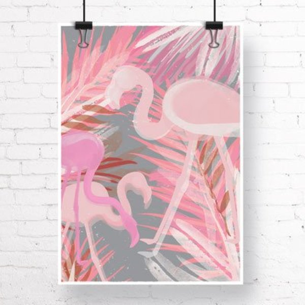 "Kruth Design Poster ""FLAMINGO"" von Kruth Design"