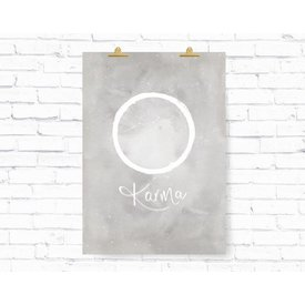 "Kruth Design Poster ""KARMA KREIS"" von Kruth Design"