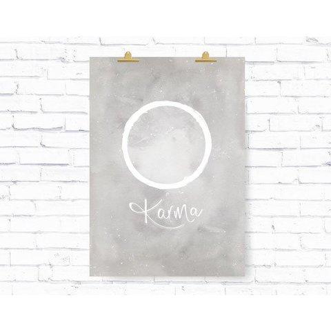 "Poster ""KARMA KREIS"" von Kruth Design"
