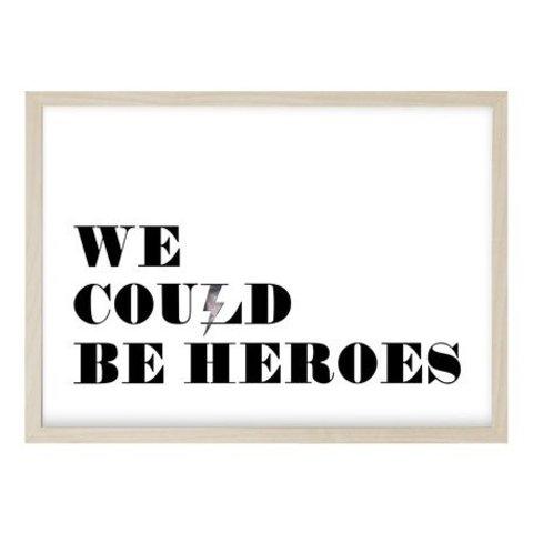 """Poster """"HEROES"""" von Kruth Design"""
