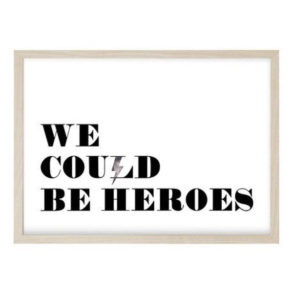 """Kruth Design Poster """"HEROES"""" von Kruth Design"""
