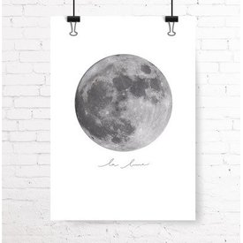 "Kruth Design Poster ""LA LUNE"" von Kruth Design"