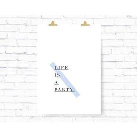 """Kruth Design Poster """"PARTY"""" von Kruth Design"""