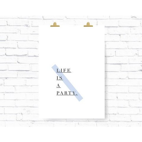 "Poster ""PARTY"" von Kruth Design"