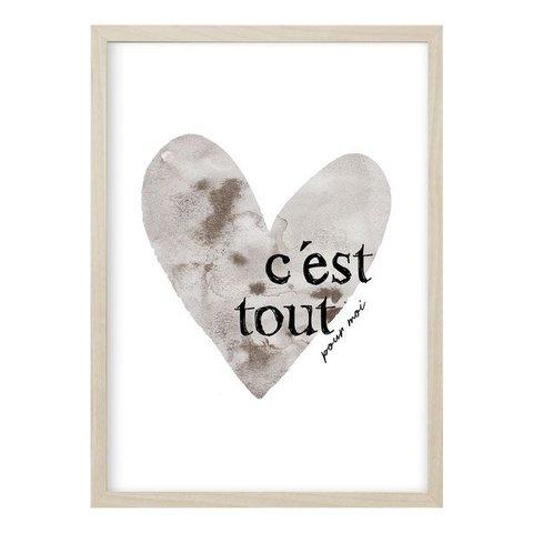 "Poster ""CES'T TOUT"" von Kruth Design"