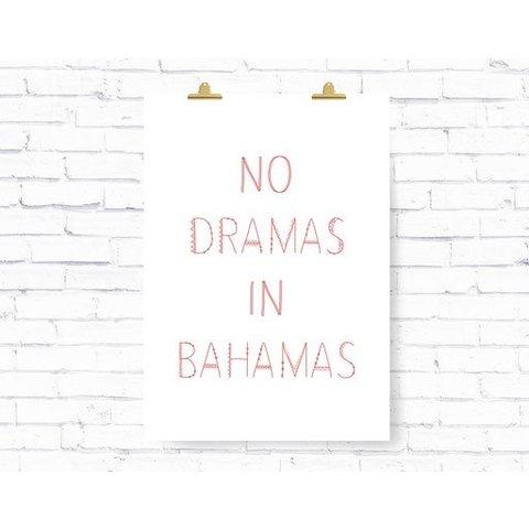 """Poster """"BAHAMAS"""" von Kruth Design"""