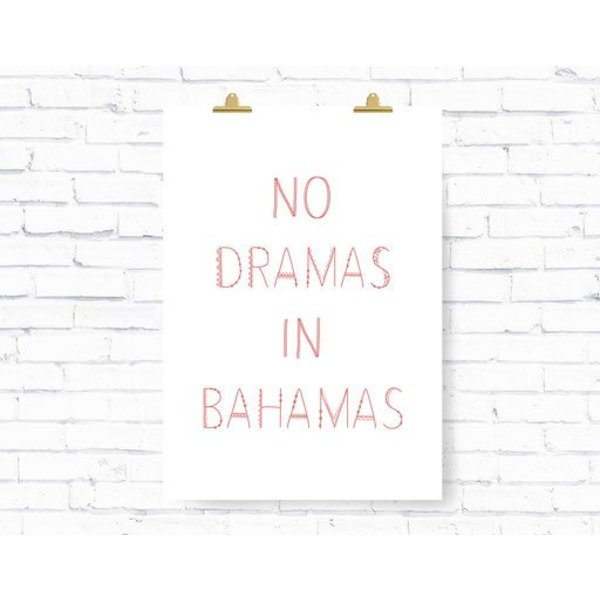 "Kruth Design Poster ""BAHAMAS"" von Kruth Design"
