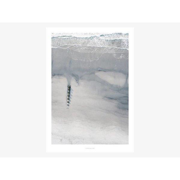 """typealive Poster """"Above The Beach No. 2"""" von typealive"""