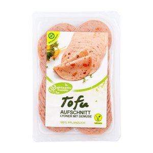 VANTASTIC FOODS Embutido de tofu con verduras, 80g