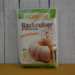 BIOVEGAN Backpulver mit Reinweinstein, 68 g