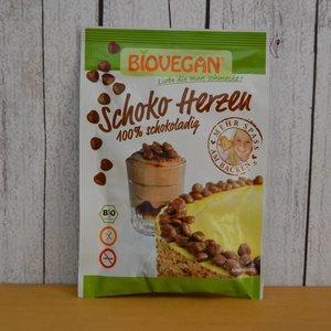 BIOVEGAN Corazones de chocolate para decorar, 35 g