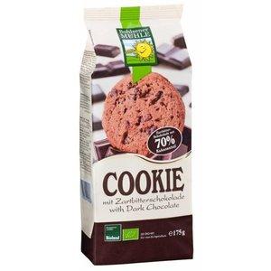BOHLSENER MÜHLE Galletas ecológicas de trigo con chocolate amargo, 175 g