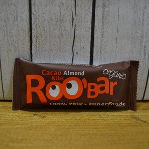 ROOBAR Trozos de cacao y almendras, 50g