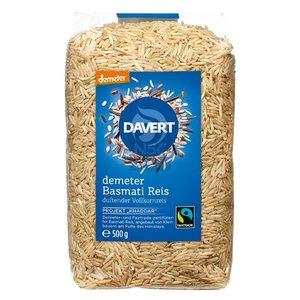 DAVERT Bio-Basmati Reis, Vollkorn, 500 g