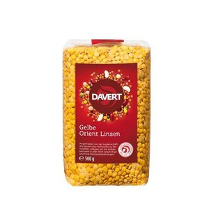 DAVERT Gelbe Orient Linsen, 500 g