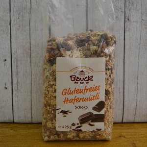 BAUCKHOF Muesli de avena con chocolate, 425g