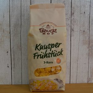 BAUCKHOF Knusperfrühstück 3-Korn, 225 g