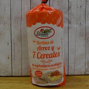 EL GRANERO Tortitas ecológicas de arroz y 7 cereales, 100 g