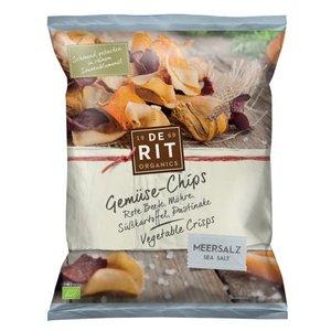 DE RIT ORGANICS Chips de verduras con sal marina, 75 g