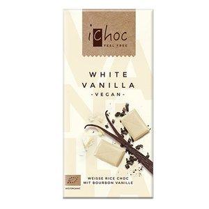 ICHOC Chocolate blanco con vainilla, 80 g