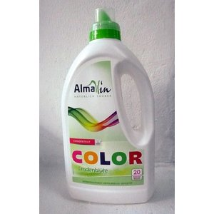 ALMAWIN Detergente líquido color, con flor de tilo, 1,5L