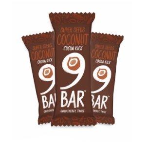9BAR Barrita de semillas con cacao y coco sin gluten, 40g