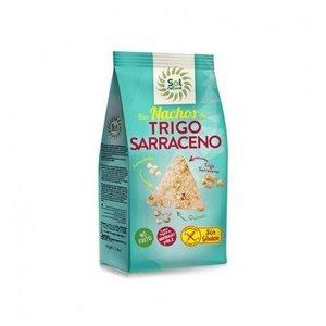 SOL NATURAL Bio nachos de trigo sarraceno, amaranto y quinoa, 80 g