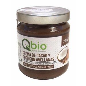 QBIO Crema de coco y cacao ecológica, 200 g