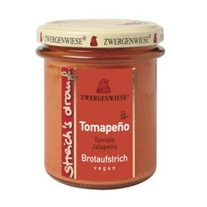 ZWERGENWIESE Crema para untar de tomate y jalapeño, 160 g