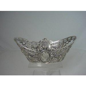 Zilveren ajourbewerkt Louis XVI-stijl bonbonschuitje