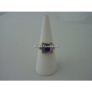 Zilveren ring met draaimechaniek, met onyx/lapis