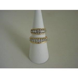 Gouden ring met briljanten ca. 0.30ct
