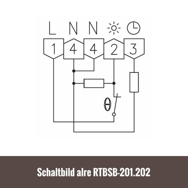 alre Raumthermostat RTBSB-201.002 superflach für Fußbodenheizung ...