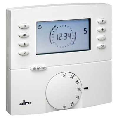 alre ftrfbu funk raumthermostat digital mit uhr pefra elektrogro handel. Black Bedroom Furniture Sets. Home Design Ideas