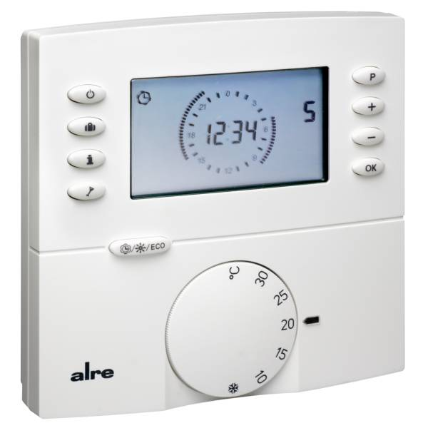 alre ftrfbu funk raumthermostat digital mit uhr. Black Bedroom Furniture Sets. Home Design Ideas