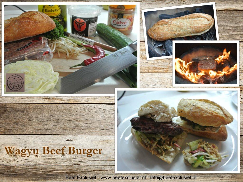 beef exclusief exlcusieve 100 echte wagyu hamburger ca 150 gram. Black Bedroom Furniture Sets. Home Design Ideas