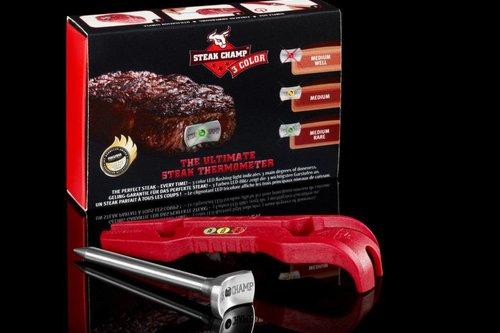 SteakChamp Vleesthermometer 3 in1 met Led